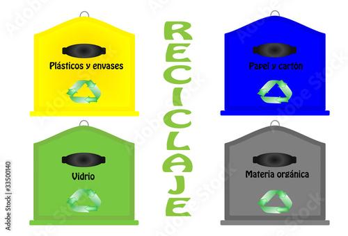 Contenedores de reciclaje im genes de archivo y vectores - Contenedores de reciclar ...