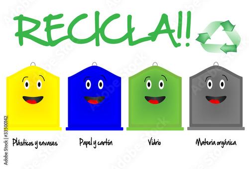 Diferentes contenedores de reciclaje stock image and royalty free vector files on - Contenedores de basura para reciclaje ...