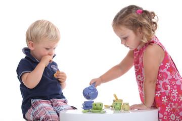 kids at tea party