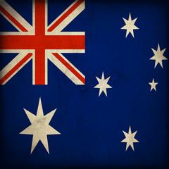 Bandiera dell'Australia in stile vintage