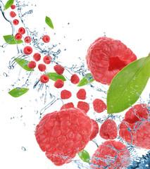 Raspberries in motion