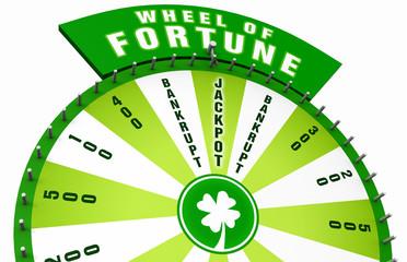 3D Wheel of Fortune - Green White 02