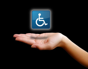 Hand holding - Wheelchair Disability