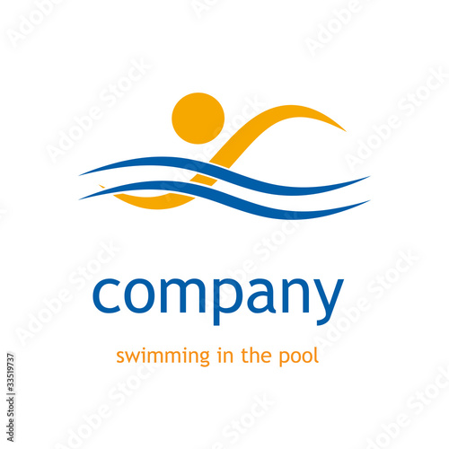 Swimming Pool Logos : Quot logo swimming in the pool vector stock image and