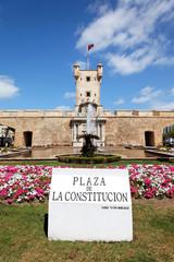 Plaza de la Constitución in Cádiz, Spanien