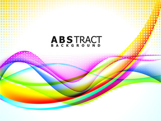 abstract colorful background wave template