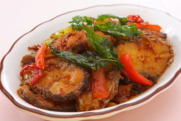Thai Food Spicy Cat Fish (Pla Duk Pad Ped)