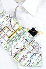 Necktie and white shirt