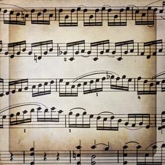 Spartito musicale con cornice quadrata