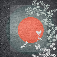 Grey background in oriental style