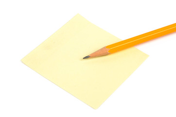 Pencil and notepaper
