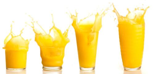 Foto op Canvas Sap orange juice splash