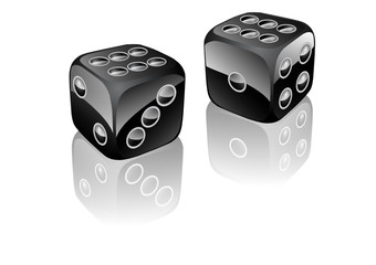 two dices black
