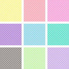 Pastel polka dots swatches