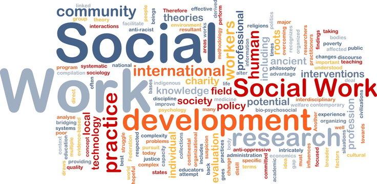 Social work background concept