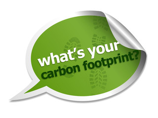 Carbon footprint speech bubble