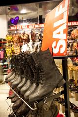 shoes on the shelf