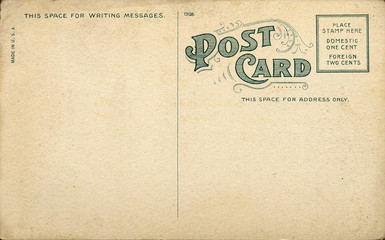 Unique Vintage Blank Postcard