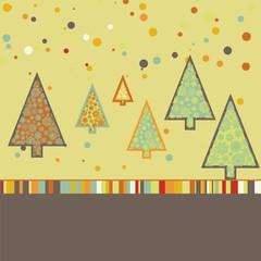 Beautiful Christmas tree illustration. EPS 8