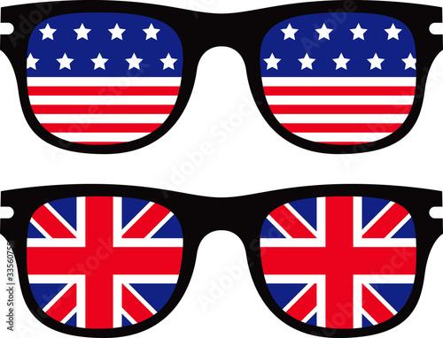 f9f8013b1de sunglasses with america and england flag