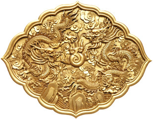 The golden dragon emblem