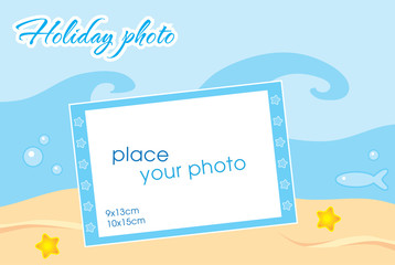 Template frame for your holiday photo