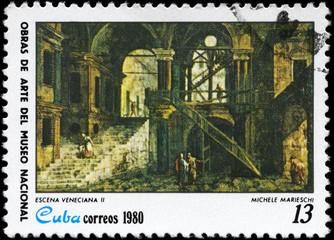 CUBA - CIRCA 1980 Venetial Scene II