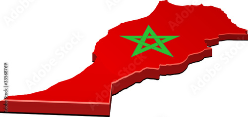 Carte Maroc Png.Map Of Morocco 3d Stock Image And Royalty Free Vector Files