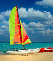 Colorful   boat at the beach