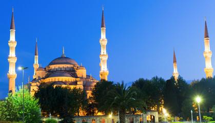 Blaue Moschee zur blauen Stunde