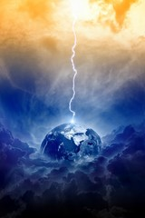 Fototapete - Planet Earth in danger