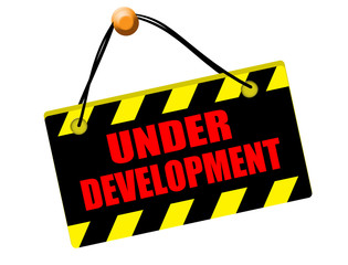 Under development sign