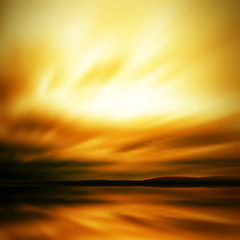Dramatic sky blur