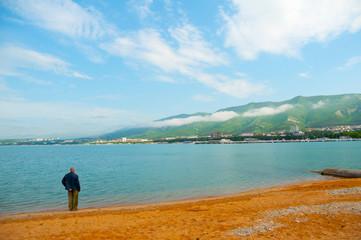 Shore of the Black Sea in Russia