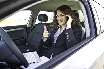 Arbeitsplatz Auto