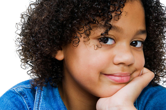 African-American Girl Smirking