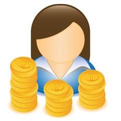 WOMAN MONEY EURO
