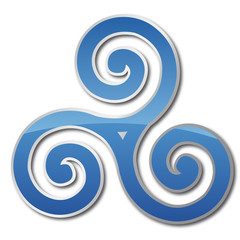 Triskell bleu reflet