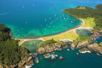 Canvas Prints New Zealand Aerial - Roberton Island, Bay of Islands, New Zealand