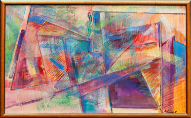 Abstract oil painting 03