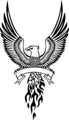Phoenix bird and emblem