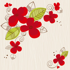 Fotobehang Abstract bloemen Vector floral background