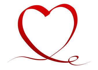 Coeur Saint Valentin tissu