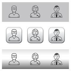Médecin Infirmière et pharmacien