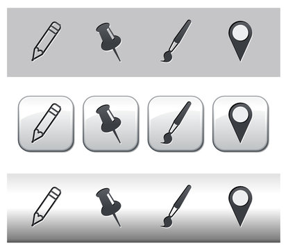Icônes matériel de bureau