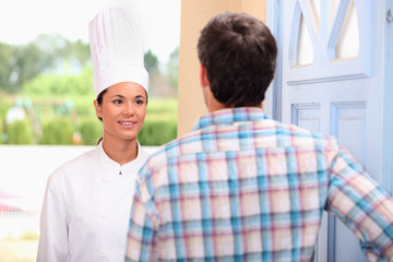 Chef on doorstep