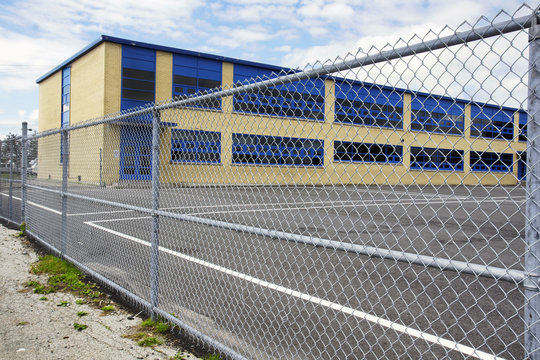 Gated school playground