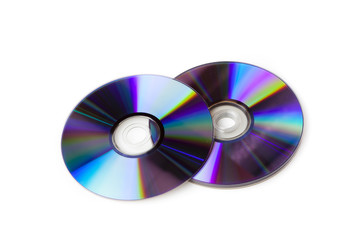 A colorful CD