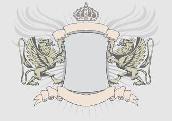 Griffin heraldry shield