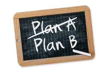 """Ardoise """"Plan A - Plan B"""""""